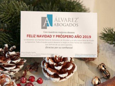 Alvarez Abogados Tenerife les desea Feliz Navidad y Próspero Año 2019