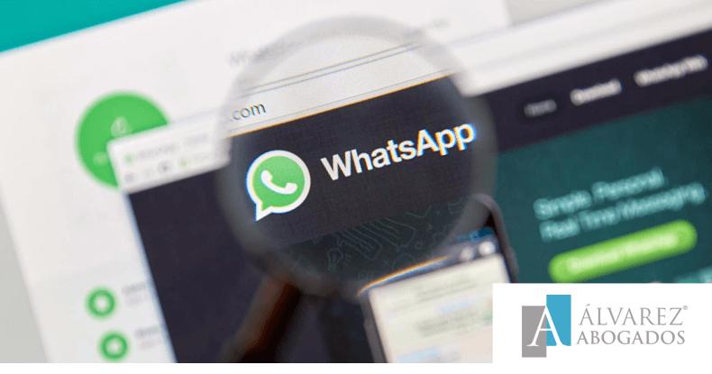 Mensajes WhatsApp y su validez en juicio