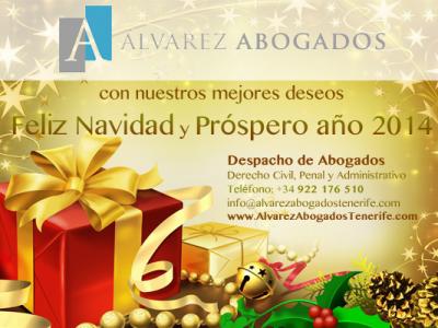 Alvarez Abogados les desea Feliz Navidad y Próspero Año 2014